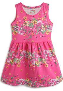 Vestido Brandili Floral Rosa