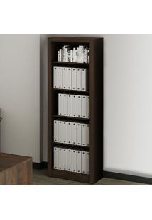 Estante Para Livros 4 Prateleiras Rústico Me4104 - Tecno Mobili