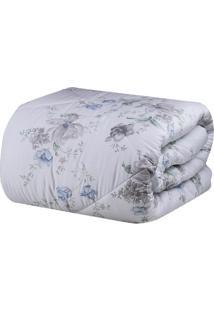 Edredom Aspen Queen Size - Branco & Azul - 250X260Cmsultan