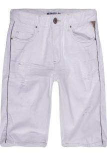 Bermuda Masculina Slim Color Off White - Bege - Masculino - Dafiti