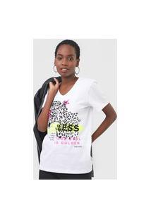 Camiseta Triton Fearless Neon Branca