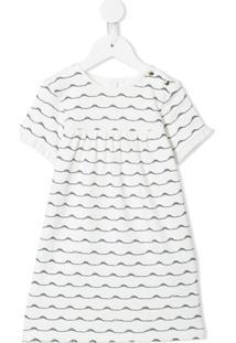 Chloé Kids Vestido Com Estampa De Ondas - Branco