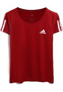 Camiseta Adidas Performance Menina Lisa Vinho