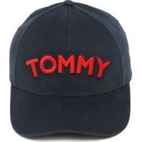 Boné Tommy Hilfiger Strapback Logo Azul-Marinho 3ee47008bca