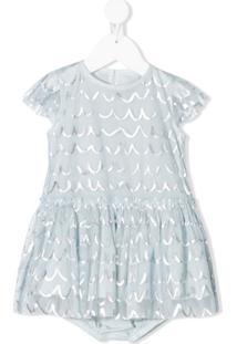 Stella Mccartney Kids Vestido Com Aplicação - Azul