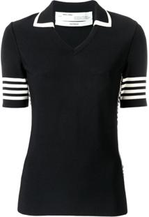 Off-White Camiseta Polo De Tricô - Preto