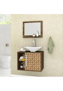 Conjunto Para Banheiro Baden Madeira Rústica E Madeira 3D