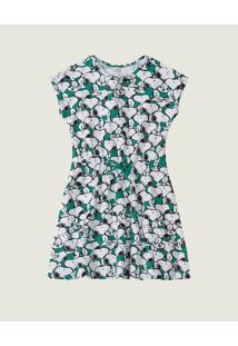 Vestido Evasê Snoopy® Menina Malwee Kids Verde - 8