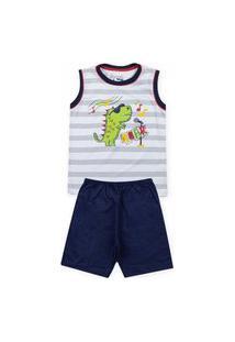 Pijama Infantil Roar Branco 61010006 - Evanilda