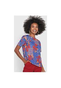 Camiseta Cantão Floral Azul