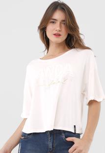 Camiseta Lanã§A Perfume Lettering Off-White - Off White - Feminino - Dafiti