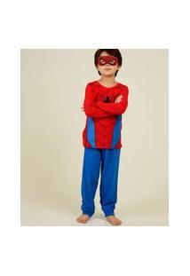 Pijama Infantil Homem Aranha Marvel Tam 4 A 10