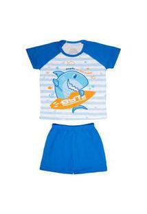 Pijama Short Infantil Masculino 4 - Tubarao Byte