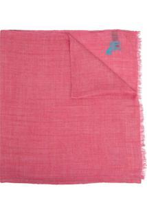 Paul Smith Cachecol Com Logo Bordado - Rosa