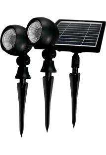 Refletor De Jardim Taschibra Led Prime 03 Bivolt Painel Solar Preto