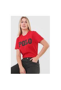 Camiseta Polo Ralph Lauren Logo Vermelha