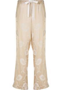 Morgan Lane Calça De Pijama Chantal Floral - Neutro