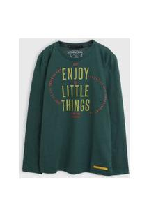 Camisa Colcci Fun Infantil Enjoy Verde