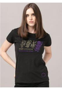Camiseta Bandup! For Honor Marching Fire - Feminino-Preto