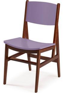Cadeira Dumon Cor Cacau Com Lilas - 30793 - Sun House