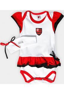 Body Vestido Flamengo Com Tiara Infantil - Feminino