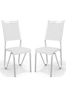 Kit Com 2 Cadeiras Londres Branco Kappesberg
