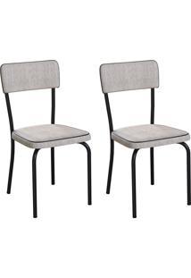 Conjunto Com 2 Cadeiras Mackay Palha E Preto