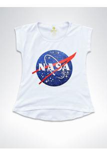Camiseta T-Shirt Feminina Geek Cool Tees Nasa Vintage Branco