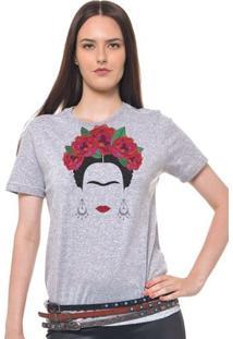 Camiseta Feminina Joss - Frida - Feminino-Mescla