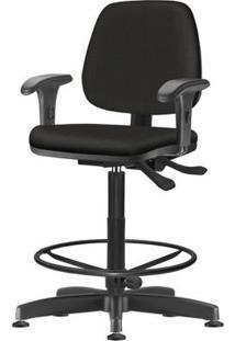 Cadeira Job Com Bracos Assento Crepe Base Caixa Metalica Preta - 54488 Sun House