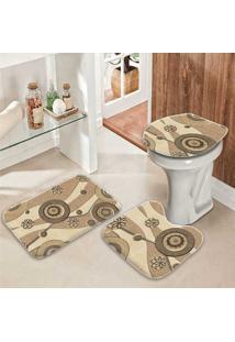 Jogo Tapetes Para Banheiro Abstrato