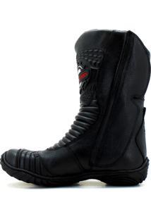 Bota Motociclista Atron Shoes 302 Preta