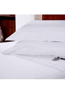 Jogo De Lençol Majestic Glamour Queen Branco 233 Fios