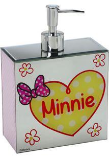 Dispenser Minnieâ®- Rosa Claro & Branco- 19,5X14X7Cm