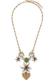Dolce & Gabbana Colar Floral - Dourado