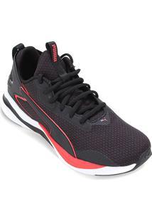 Tênis Puma Softride Rift Tech Masculino - Masculino-Preto+Vermelho