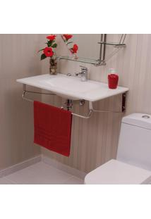 Gabinete Para Banheiro De Vidro Apolo Astra Branco