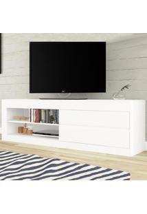 Rack Para Tv Até 55 Polegadas 2 Gavetas Uno Branco - Viero Móveis