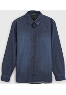 Camisa Jeans Colcci Fun Infantil Estonada Azul