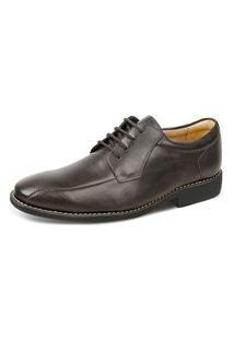 Sapato Social Derby Sandro Moscoloni Juarez Marrom Escuro