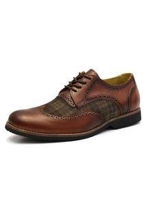 Sapato Social Shoes Grand Chess Whisky Tamanho Especial