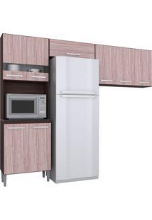 Cozinha Compacta 3 Peças Karina -Poquema - Capuccino / Amêndoa