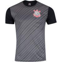 Camiseta Do Corinthians Stroke 18 - Masculina - Preto Cinza Esc cf89a214f8eac