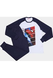 Pijama Infantil Evanilda Spider Man Longo Tal Filho Masculino - Masculino
