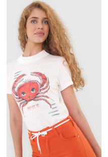 Camiseta Colcci Caranguejo Off-White - Off White - Feminino - Algodã£O - Dafiti