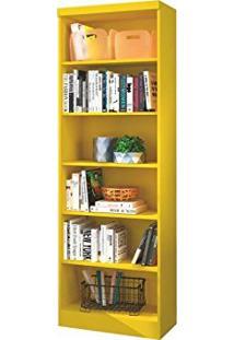 Livreiro Linus 5 Prateleiras 1404 Amarelo - Qmovi