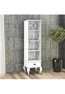Cristaleira 1 Porta E 1 Gaveta Clássico Cl4006 Branco - Móvel Bento