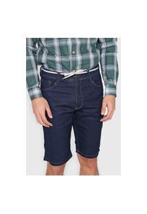 Bermuda Jeans Fatal Reta Comfort Azul-Marinho