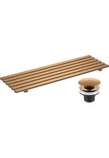 Kit Complementar Para As Cubas L131 E L1044 De Grelha E Válvula Gold Matte - 2013.Gl.Mt - Deca - Deca