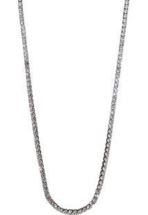 Colar Infine Riviera Cristal Ródio Negro Longo Preto - Tricae